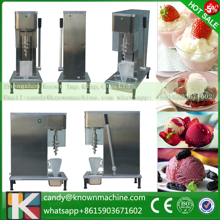 Fast delivery fruit ice cream feeder fruit ice cream feeder from factory selling gelato fruit nuts mixer