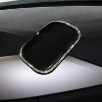 Cystal Rhinestone Anti Slip Mats Mobile Phone Stand Clip Non Slips Pads PVC Dashboard Mat Accessories Anti-slip Pad Car Styling