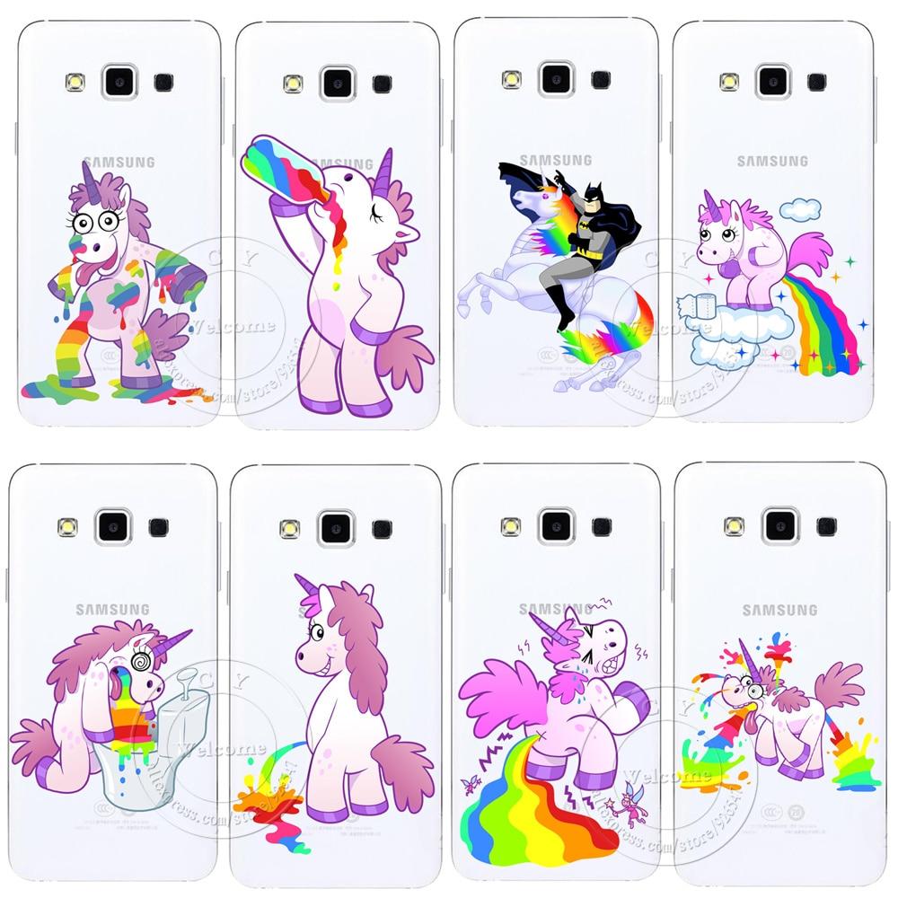 Cute Hippo Rainbow Unicorn Horse Clear Hard Plastic Case ...