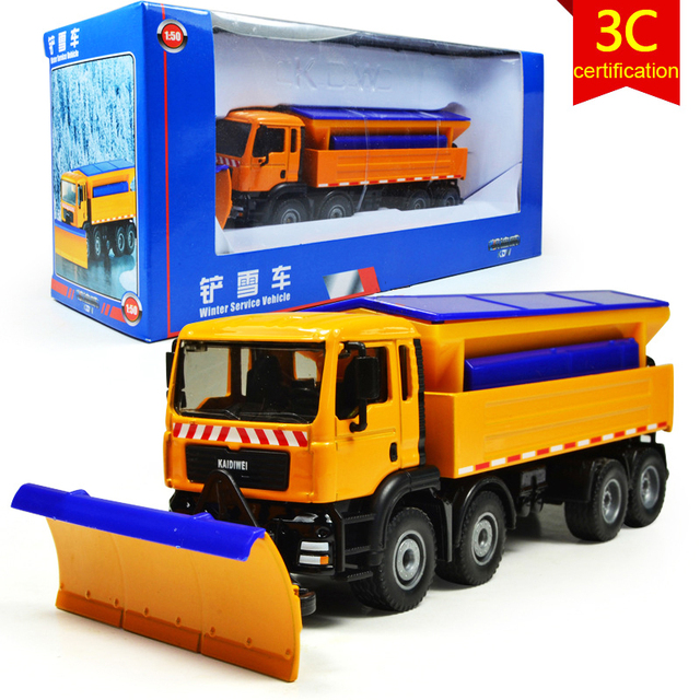 KAIDIWEI Snowplow Winter Service Vehicle Engineering Vehicle 1:50 Scale  Diecast Alloy Metal Car Model Toy