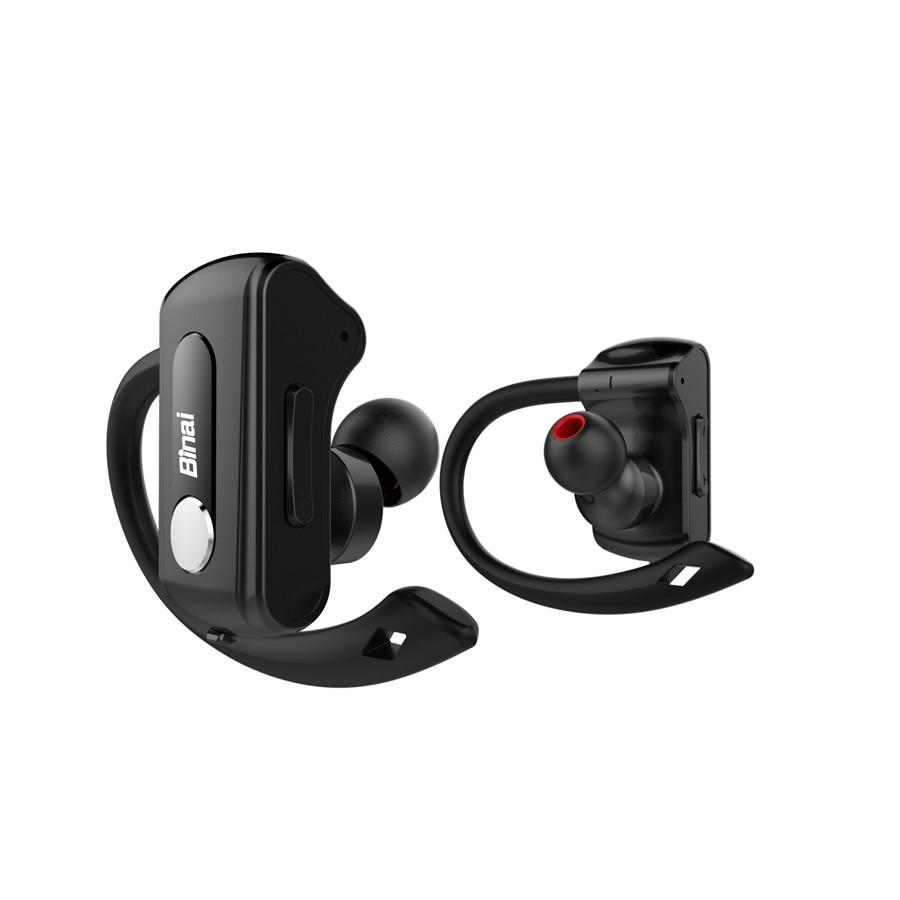 BINAI T88 IPX4 Waterproof Handsfree Stereo Sport Headset Wireless Bluetooth Earphone Headphone for Iphone for Xiaomi lymoc m3x bluetooth earphone wireless headset sport csr8645 v4 1 hi fi apt x stereo headphone handsfree hd mic for iphone xiaomi