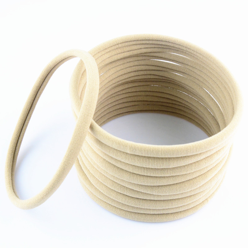 600pcs lot 31color U Pick 10mm FOE Nude Nylon Headband girls Soft Stretch Hair Accessories Bulk