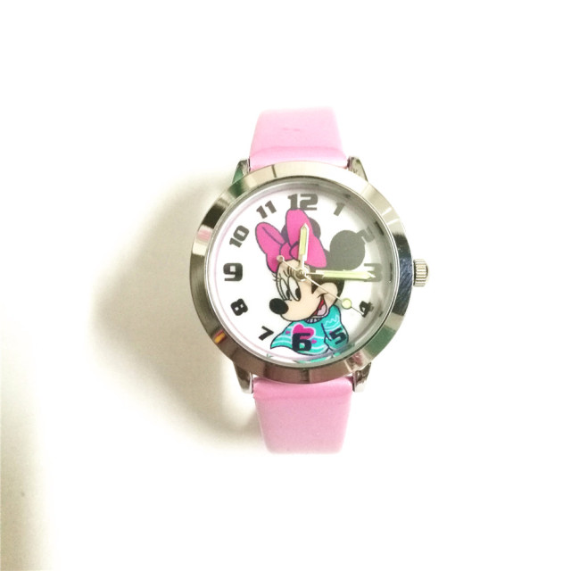 new Quartz children wristwatches girls gift clock cute cartoon Minnie mouse kids