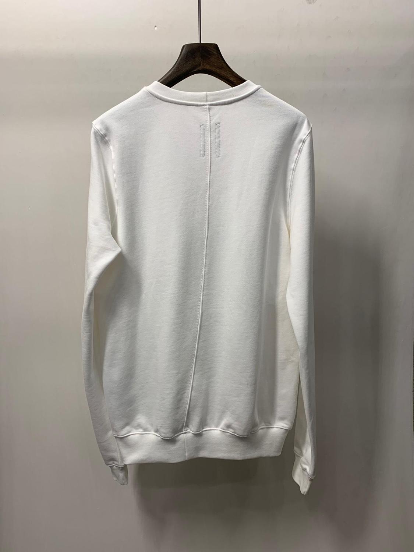 19ss Owen seak hommes sweat à capuche en coton Sweatshirts gothique surdimensionné vêtements pour hommes automne solide blanc Hoodies chemise de fond - 2