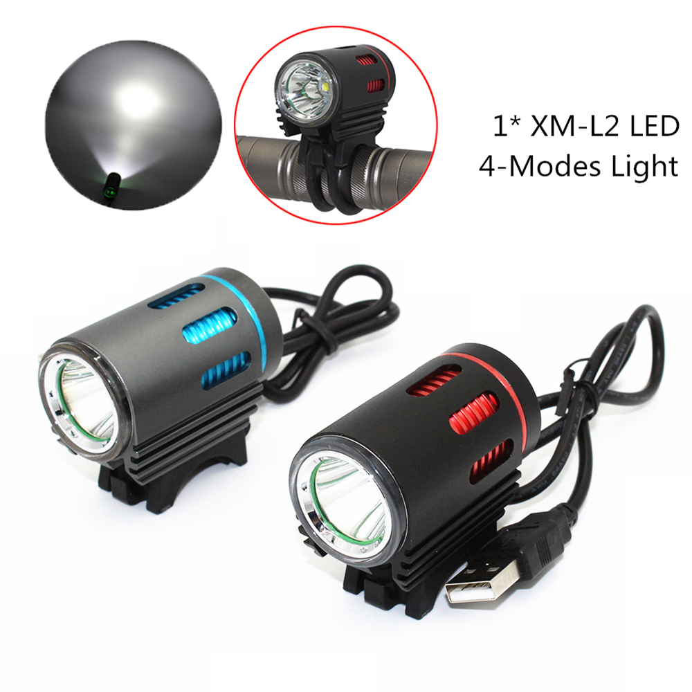 1200LM XM-L L2 T6 USB LED Headlamp Headlight Bicycle Bike Light 4 Mode