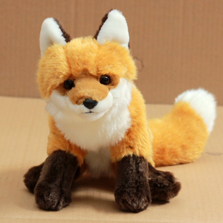Simulation Fox Stuffed Animal Toy  Doll  Plush Toys  Children'S Birthday Gift  Feel Super Good plush dinosaur doll child toys magic dragon simulation stuffed animal toy dolls stores