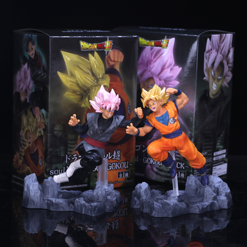 Anime Dragon Ball Z Super Soul X Soul Son Goku Trunks Black Goku PVC Action Figure Brinquedos Collectible Model Kids Toys anime 15cm dragon ball z action figure toys 5 9inch collectible son gokou figure models anime brinquedos christmas gifts doll