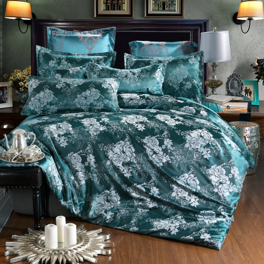 Chinese Wedding  Luxury Bedding Sets Jacquard Queen/King Size Duvet Cover Set wedding Bedclothes Bed Linen bed sheetChinese Wedding  Luxury Bedding Sets Jacquard Queen/King Size Duvet Cover Set wedding Bedclothes Bed Linen bed sheet