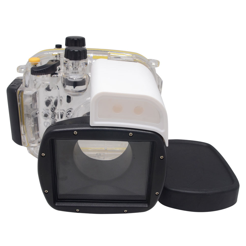 Mcoplus 40m/130ft Camera Underwater Waterproof Housing Diving <font><b>Case</b></font> for <font><b>Canon</b></font> Powershot <font><b>G1X</b></font> WP-DC44 image