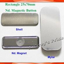 Прямоугольник 25x70 мм 100 устанавливает холодильник Dialog Box Nd. Сильная Магнитная Задняя Кнопка производитель материалов питания
