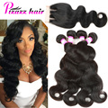 Peerless Virgin Hair 8A Malaysian Body Wave with Closure Lace Closure With Bundles Body Wave Malaysian Virgin Hair With Closure