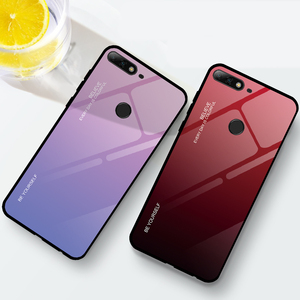 Image 5 - Gradient Phone Case For Honor 7A RU 5.45 7A Pro 7C Pro 5.99 Tempered Glass Case For Huawei Y9 Y6 Prime 2018 Y7 Prime 2019 Cases