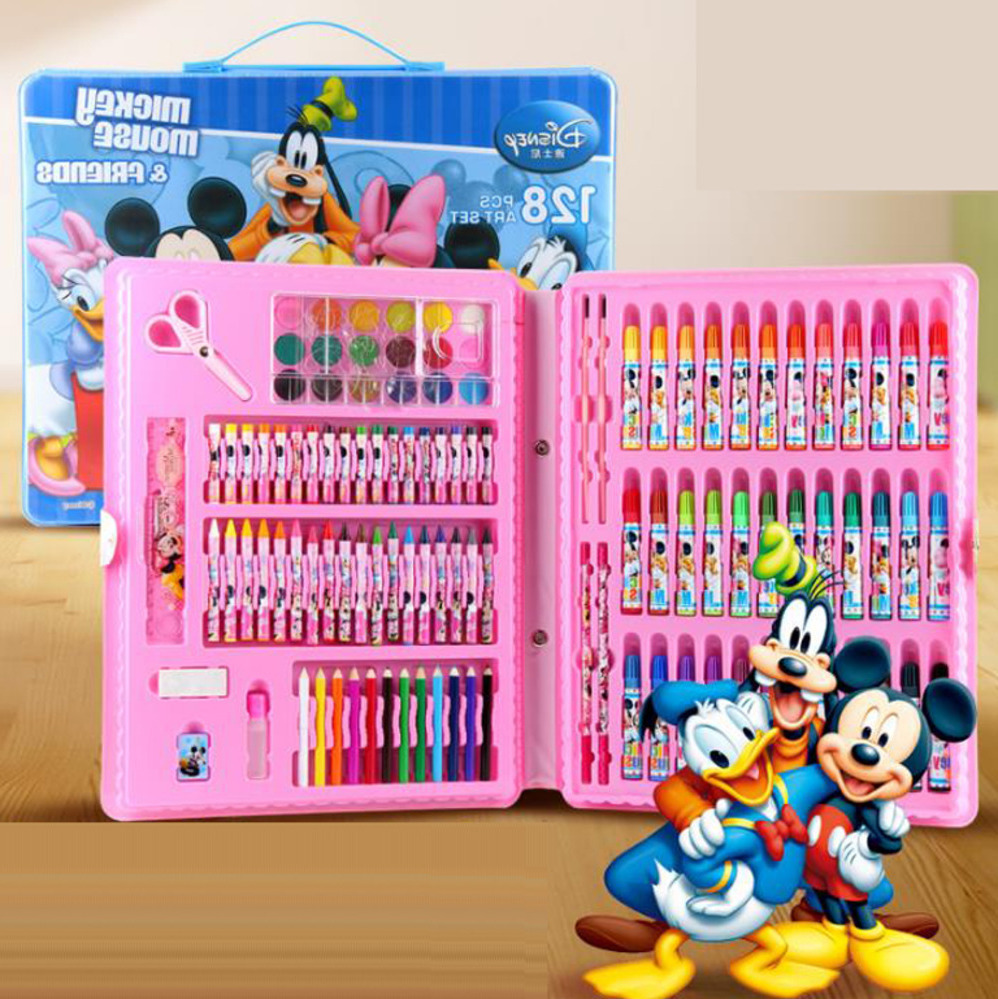 Hot new rushed kit stationery set gift primary children birthday school tools supplies essential papelaria pens marker painting wj003 hot new rushed kit escolar bolso stationery set gift primary children birthday school tools supplies essential papelaria
