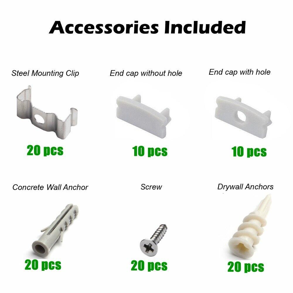 Luzes Led Bar tira conduzida perfil para 8mm Mounting Clip Material : Steel