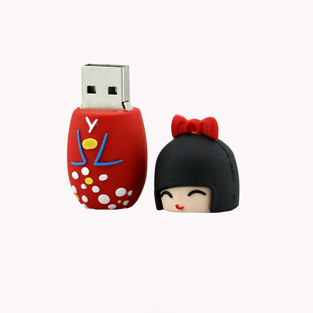 6dae664b20ef ... Pendrive 128G Japanese clothes girls USB Flash Drive 4GB 8GB 16GB 32GB  64GB cartoon usb pendrive ...