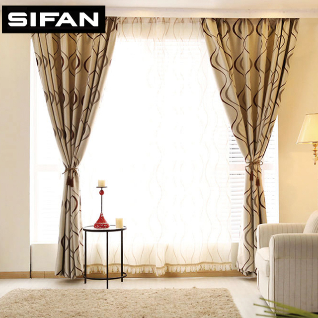 New Wave Stripe Geometric Blackout Curtains For The Bedroom Windows Living Room Modern