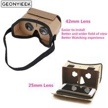 Óculos de Realidade Virtual Óculos Google Papelão VR Óculos Filmes para iPhone 5 3D 6 7 SmartPhones fone de Ouvido Para Xiaomi
