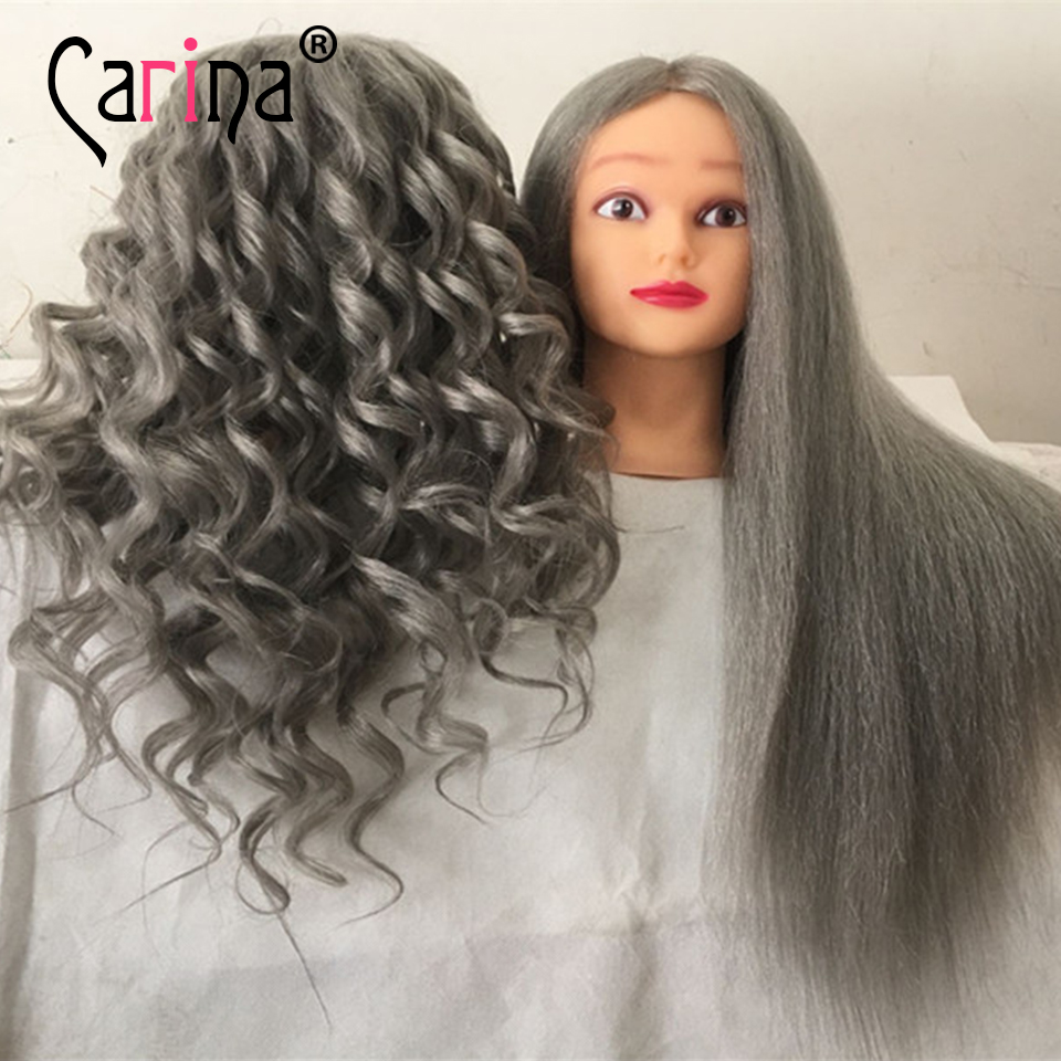 Hairdressing Dolls Head Training Mannequin For Hairdressers Professional Hair Styling Head Dummy Mannequin Head With Long Hair