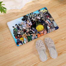 цена на Japanese Cartoon Anime Naruto Print Door Mat Kitchen Carpet Living Room Hallway Bathroom Entrance Non-slip Floor Mat