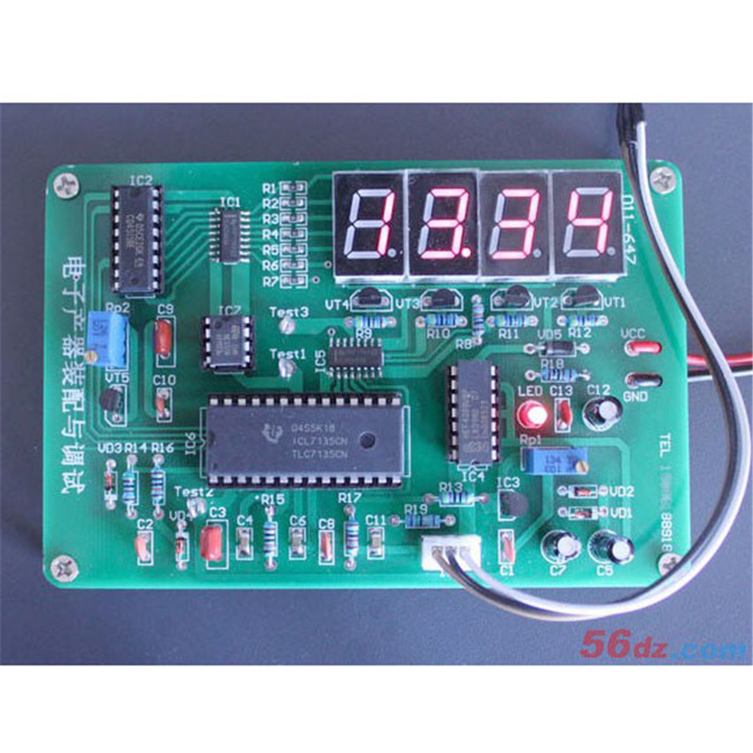 Electronic Product Testing Instruments : Diy icl digital temperature instrument assembly and