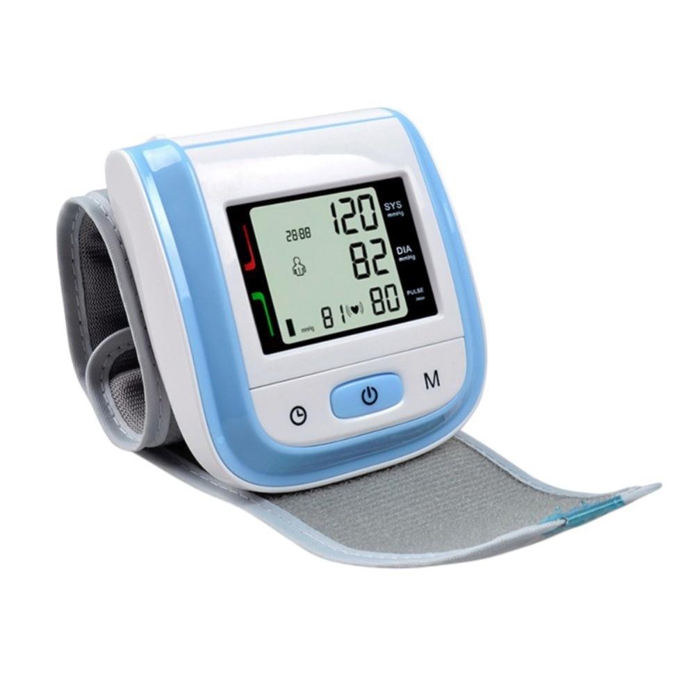 Handgelenk Blutdruck Monitor Tragbare Tensiometros Digital LCD Handgelenk Manschette Blutdruck Meter Esfingomanometro Puls