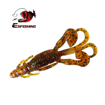 Esfishing Craw Fishing lures 6pcs 9cm/6.2g Huge Tentacles Fishing Baits Carp Soft Lure Fishing Lifelike Shrimp Isca Artificiais