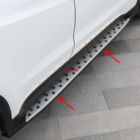 Side Dedal foot step side bar running board For Honda HRV HR V 2015 2016 2017 2018 car styling