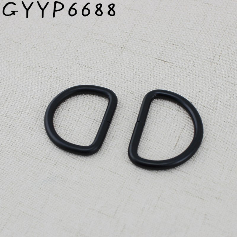 10pcs 32mm 38mm Dark Black Bags' Polished Nickel Inside Bags Metal Accessory Alloy Cast Solid Non Welded D Ring DIY Bag Parts
