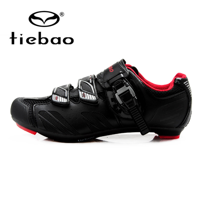 Tiebao Professional Bicycle Cycling Shoes Road Racing Self-Locking Men Breathable Outdoor Sports Athletic Zapatos Ciclismo tiebao tb02 b943 men s outdoor sports cycling shoes black white pair size 42