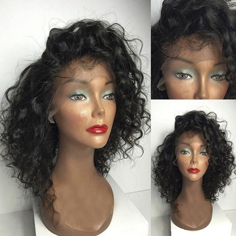 Eversilky Brazilian Remy Hair 360 Lace Frontal Wig Pre Plucked With Baby Glueless Short Curly Human Hair Wigs For Women