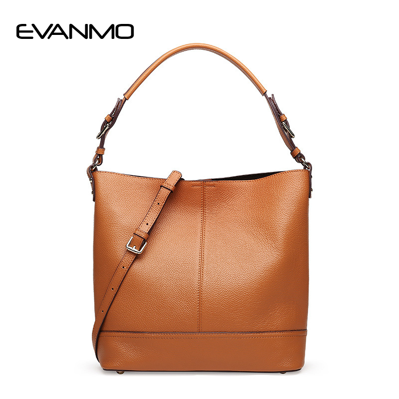 2018 Luxury Handbags Women Bag Genuine Leather Bucket Bag Women's Bags Famous Designer Shoulder Bags Purse Tote Messenger Black chispaulo women genuine leather handbags cowhide patent famous brands designer handbags high quality tote bag bolsa tassel c165