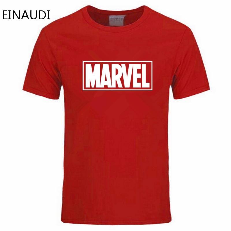 Einaudi New Fashion Marvel T-shirt Men Cotton Short Sleeves Casual Male Tshirt Marvel T Shirts Men Tops Tees Free Shipping #2