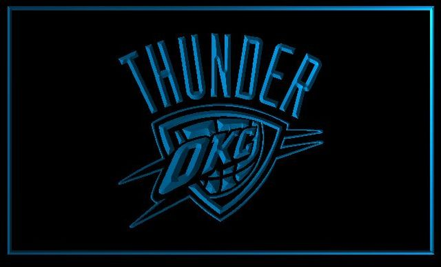 OKLAHOMA CITY THUNDER Beer Bar Pub 3d Signs Led Neon Light Sign
