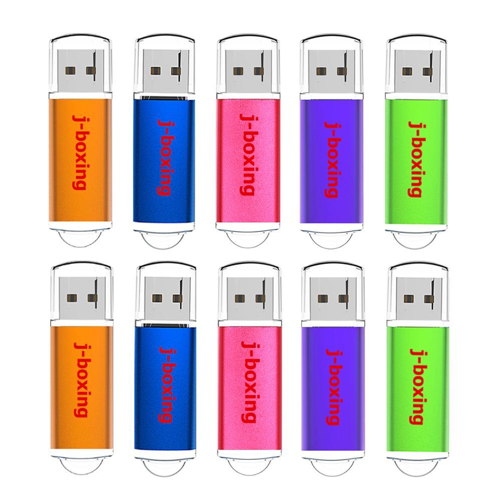 J boxing 10PCS USB Flash Drive 512MB 256MB 128MB 64MB Small Capacity Memory Stick Jump Drive Pen Drives for Desktop Multi colors-in USB Flash Drives from Computer & Office