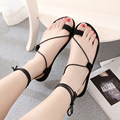 Free shipping summer new strap flat sandals women