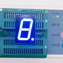 """5 шт. 7 segment 1 """"LED Дисплей 1 дюйм 1 Цифровой 1-характер синий светодиод Дисплей 7 сегментов светодиодные трубки Дисплей модуль анод катод"""