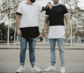 Fashion New Style O-Neck Patchwork Pattern Solid Cotton Hip Hop T Shirt Men Streetwear Extended Swag Tops Tees Plus Size S-XXL