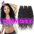 8A Brazilian Virgin Hair Water Wave 3 Bundle Deals Wet And Wavy Virgin Brazilian Hair Weave Bundles Alimice Human Hair Weave