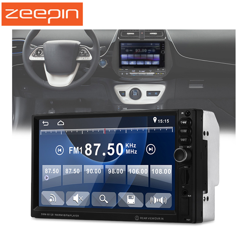 ZEEPIN Universal 2 din Car DVD Player 7 inchTouch Screen Stereo Radio Bluetooth MP5 Car Multimedia Player Steering Wheel Control steering wheel control car radio mp5 player fm usb tf 1 din remote control 12v stereo 7 inch car radio aux touch screen