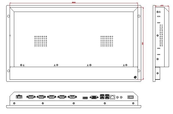 6U rackmonteret industriel computer, 12,1 tommer LCD, Core i3-3217U - Industrielle computere og tilbehør - Foto 4