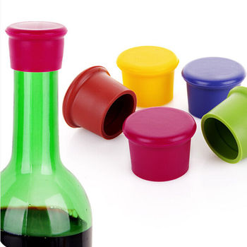 1 Pcs Silicone Wine Bottle Stoppers Approved Food Grade Silicone Durable Flexible Wine Bottle Stopper image