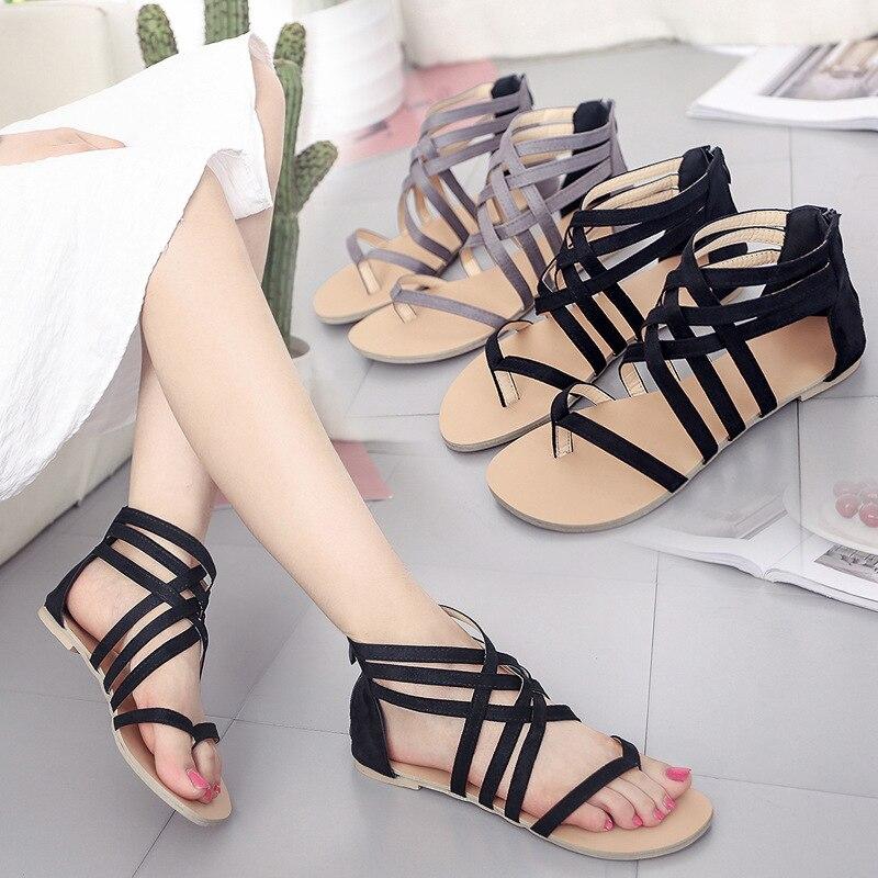 2019 Frauen Sandalen Böhmen Komfortable Damen Schuhe Strand Gladiator Sandale Frauen Casual Schuhe Einfache Weibliche Schuhe