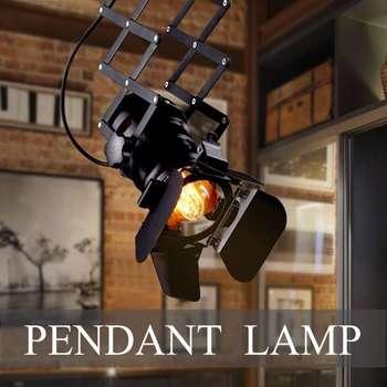 Ajustável retro ponto pista pingente luzes led barra loja de roupas do hotel escada pendurar lâmpada loft estiramento industrial luminárias