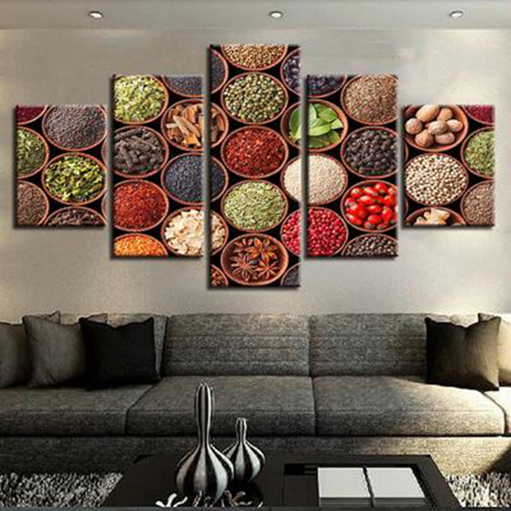 Multicolor Spices Food Still Life Picture Modern Home