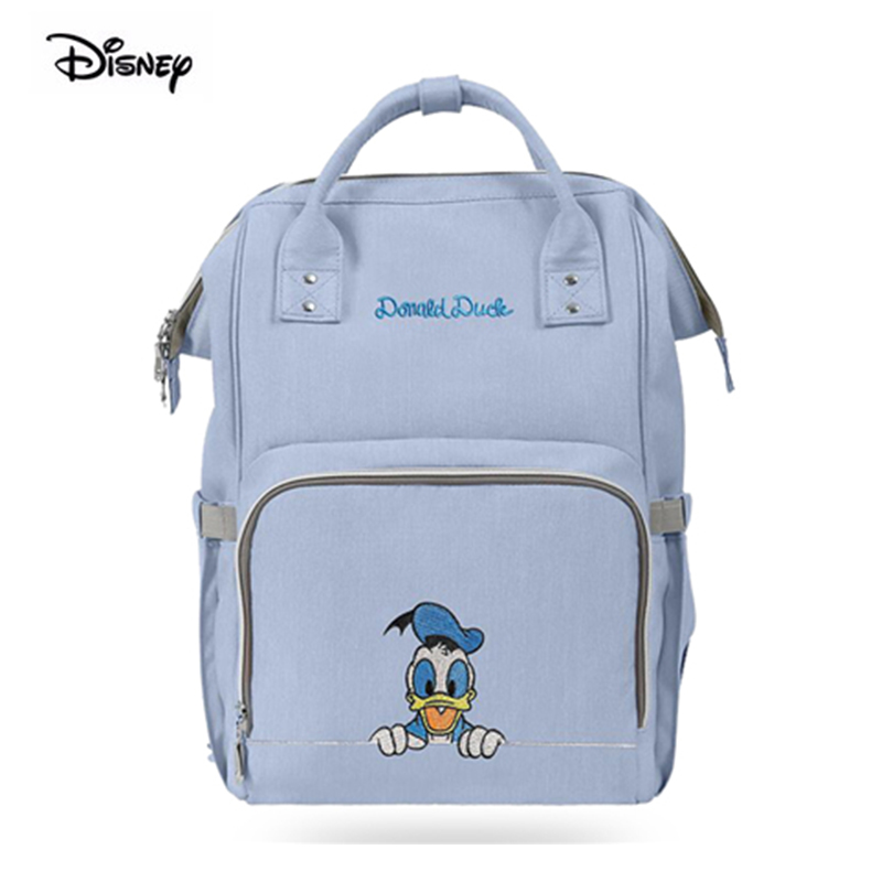 Disney Donald Duck Multifunction Diaper Backpack Maternity Baby Bag For Mom Waterproof USB Heater Bottle Insulation