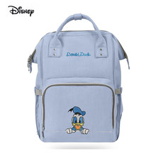 Disney Donald Duck Multifunction Diaper Backpack Maternity Baby Bag For Mom Waterproof USB Heater Bottle Insulation Nappy Bag(China)