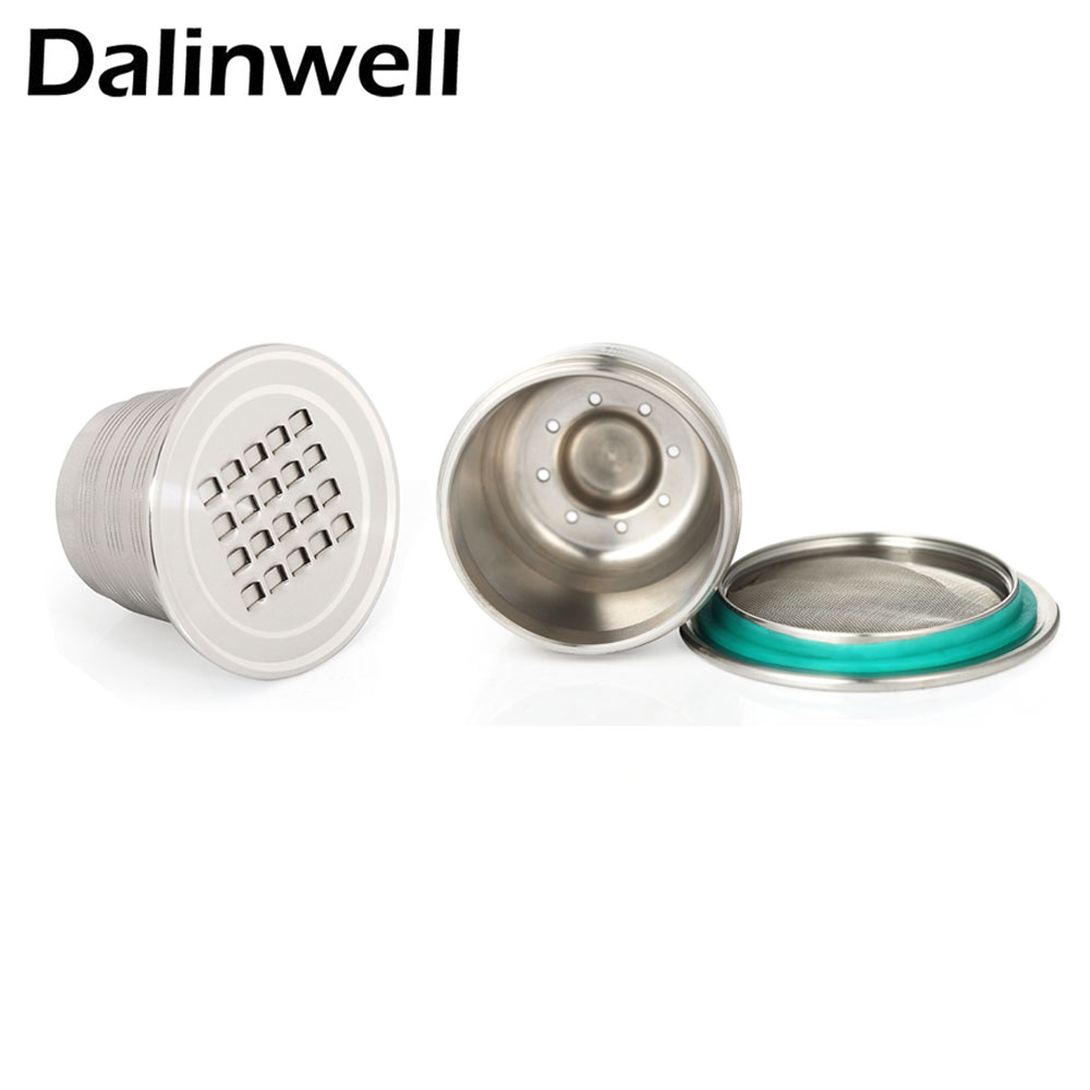 3 Nescafe Pods Stainless Steel Nespresso Reusable Capsules Refillable Cup Filter Rechargeable Dripper 150times Coffee Tamper Set