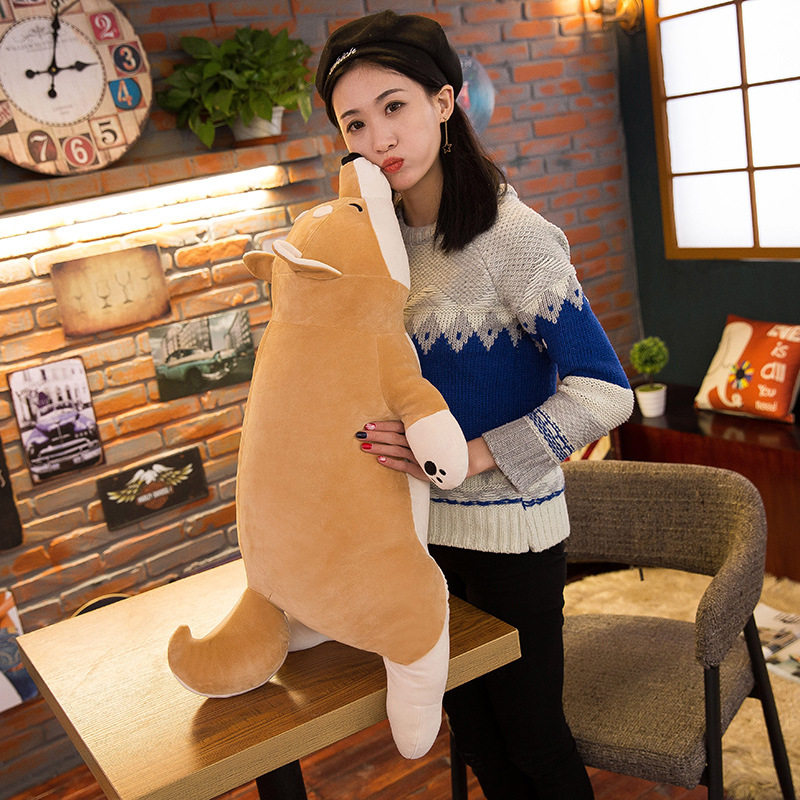 Algodón mentir felpa peluche perro juguetes grandes Shiba Inu Dog - Peluches y felpa - foto 4