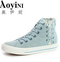 2018 New Korean Students Canvas Shoes Women Shoes Female Flats Breathable Shoe New Styles Of Women