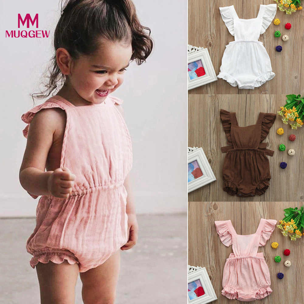 3b96fc1709d MUQGEW 2019 Girl Kids Dress Newborn Baby Girls Ruffles Romper Backless Jumpsuit  Outfits Clothes Sunsuit tutu